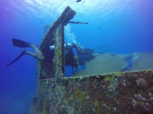 Diver in Atlantic Princess Wreck